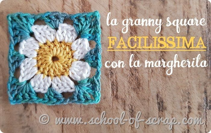 Tutorial granny square facile facile con la margherita uncinetto