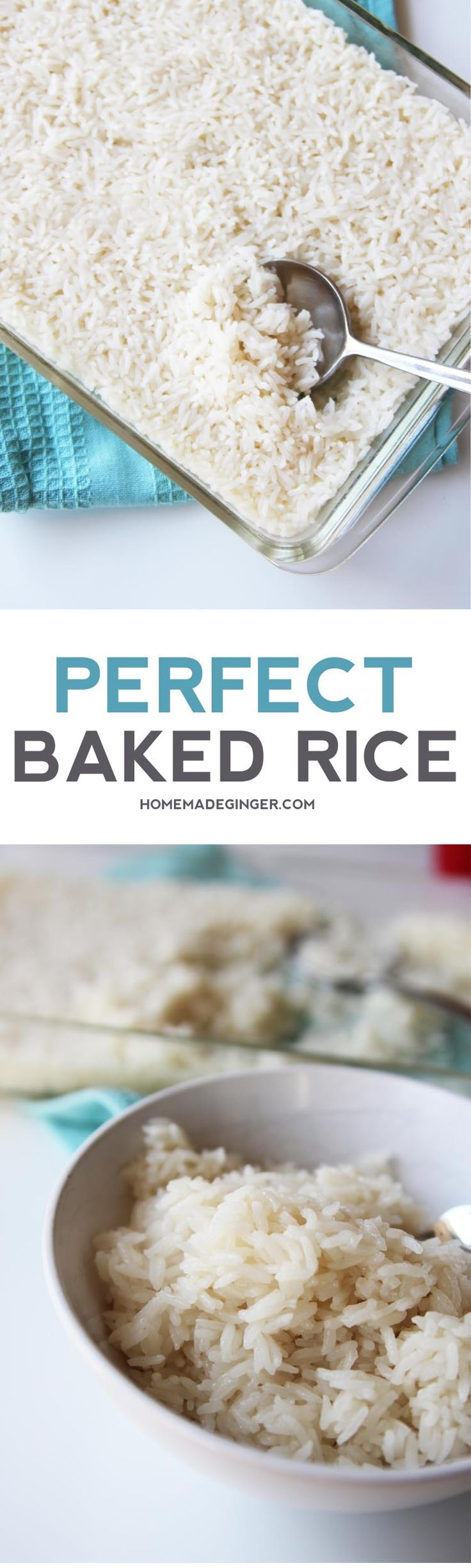 Who knew you could bake rice? It comes out perfect every time. You will never wonder how to make rice again!