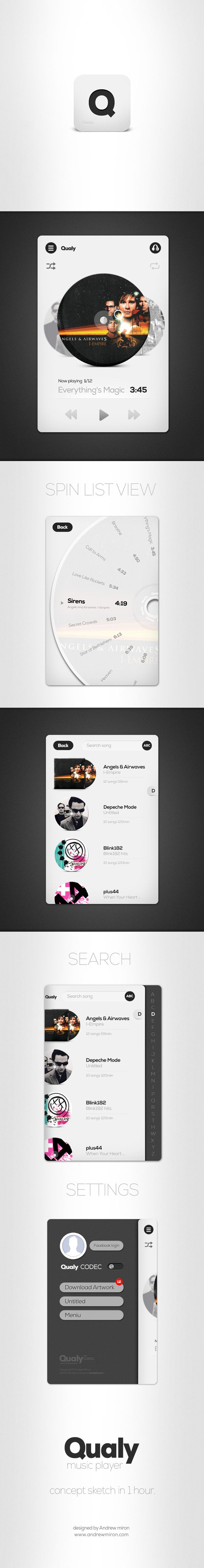 Qualy app. by Andrew Miron, via Behance