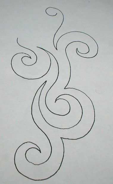 swirl design freehand