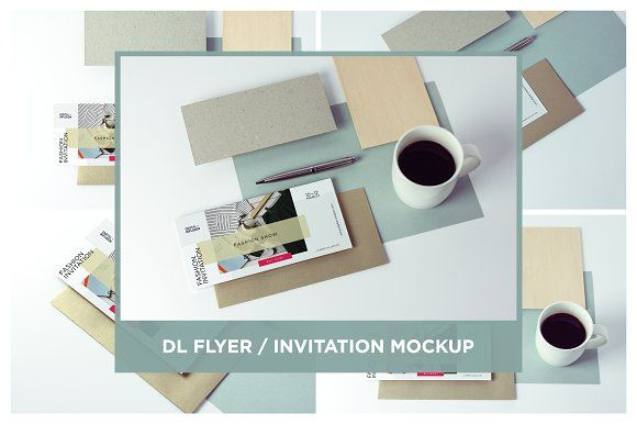 DL Flyer / Invitation Mock-up by DIGITAL INFUSION on @creativemarket