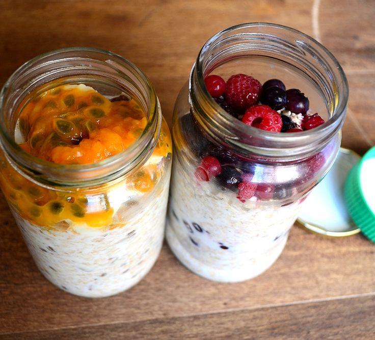 porridges de avena con frutas