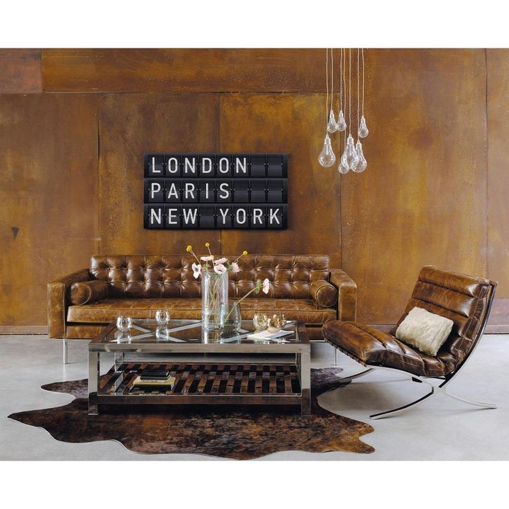 Gestepptes 3 Sitzer Sofa Aus Leder Braun Mikado Brown Leather Armchair Furniture Styles Interior