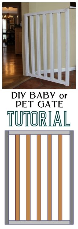 tutorial to make this simple and inexpensive DIY baby or dog gate
