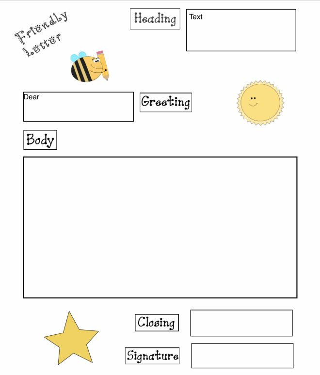 Friendly Letter Graphic Organizer For Pages 09