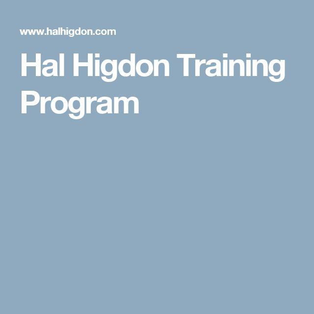 Hal Higdon Training Program