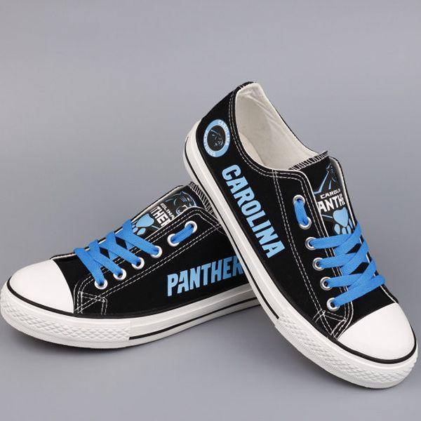 Carolina Panthers Converse Sneakers - http://cutesportsfan.com/carolina-panthers-designed-sneakers/