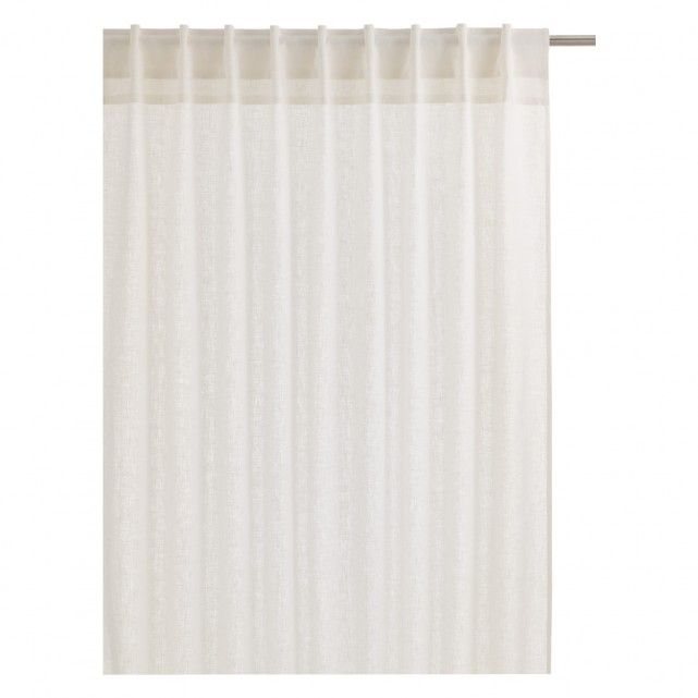 ALBANY Pair of white linen curtains 135 x 170cm | Buy now at Habitat UK