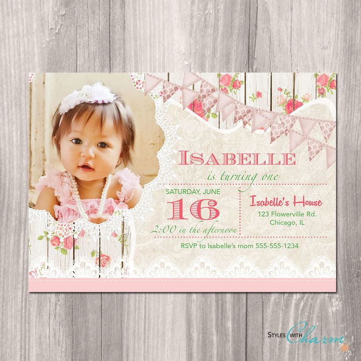 The 25 best ideas about First Birthday Invitations – Baby Birthday Invite