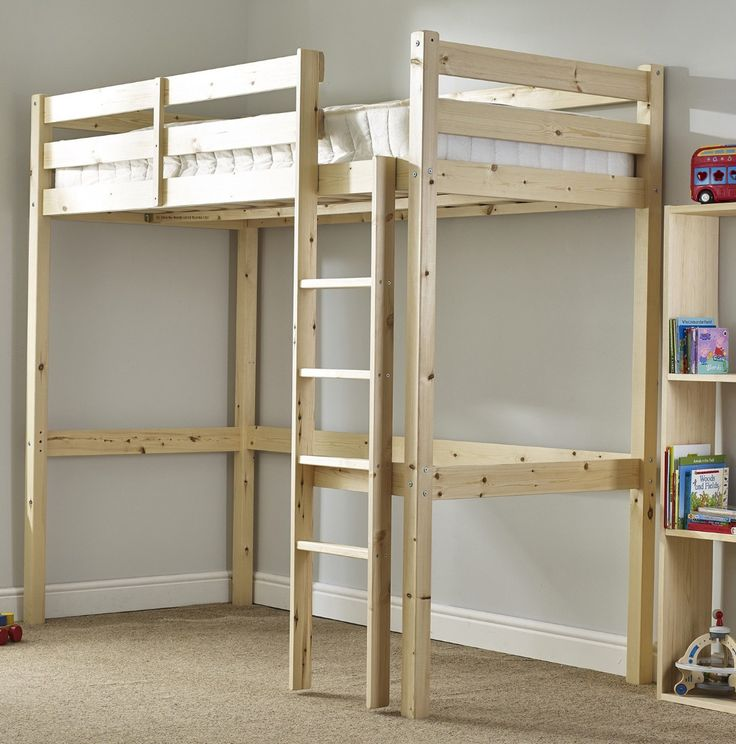 Icarus 4ft 6 Double HEAVY DUTY Solid Pine HIGH SLEEPER Bunk Bed