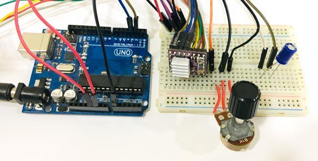 Circuit Hardware For Control Nema 17 Stepper Motor With Arduino