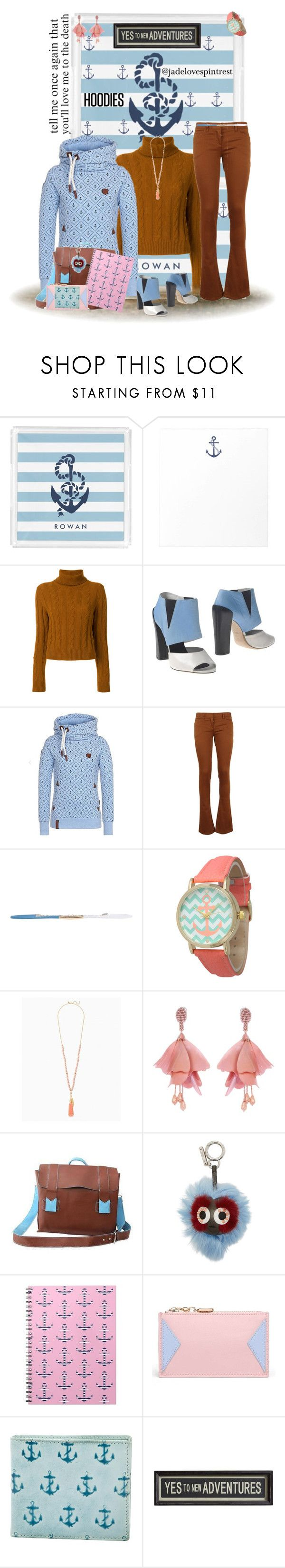 """Stay Anchored"" by jadelovespintrest ❤ liked on Polyvore featuring The Gigi, Stephen, Balmain, Space Style Concept, Geneva, Oscar de la Renta, NOVICA, Fendi, Jack Spade and Pottery Barn"