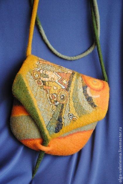 Сумочка Солнечный город. - оранжевый,сумочка,сумочка ручной работы,сумочка через плечо