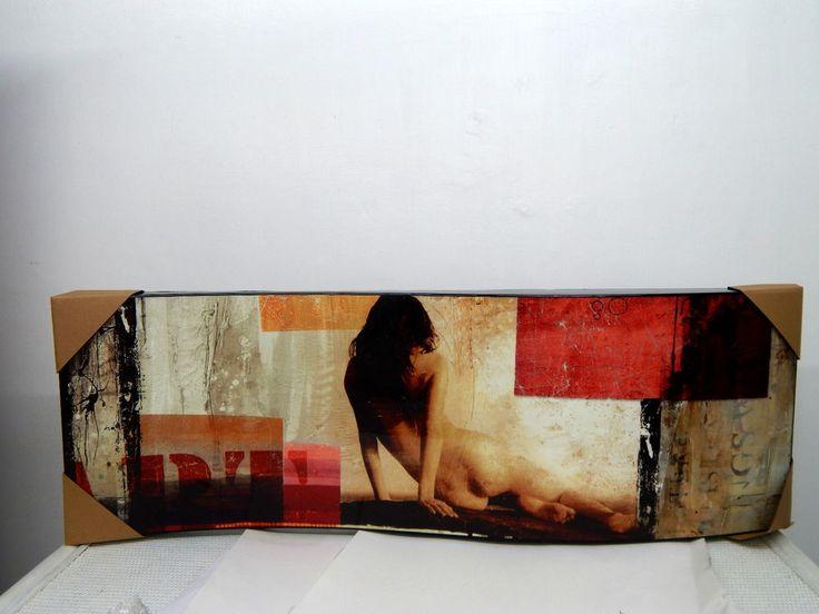 quadro in legno, decorazione donna, industrial chic, arredamento moderno
