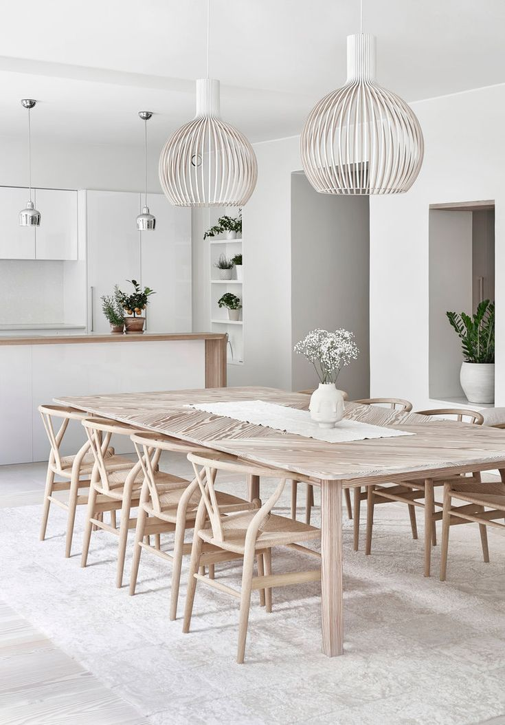 Nice dining room design with large wood