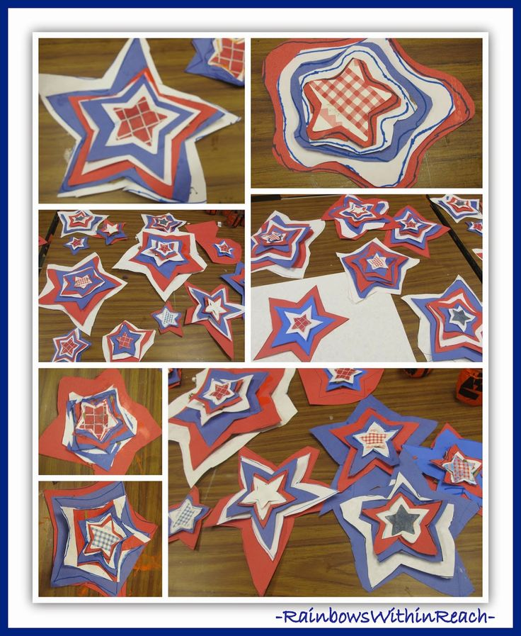 Patriotic Stars Created in Honor of Veteran's Day at RainbowsWithinReach {Author Visit}