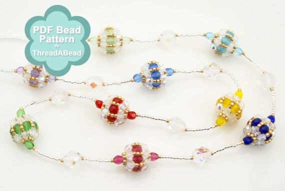 Bead Pattern: Mini Beaded Bead Multi Colour Necklace
