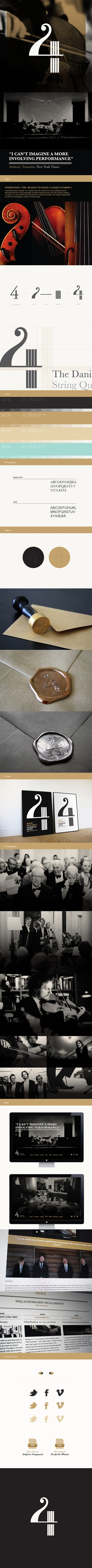 The Danish String Quartet / Corporate identity by Maibritt Lind Hansen, via Behance