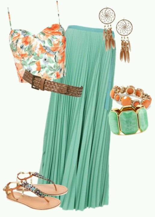 I love outfits like this! Maybe one day I can rock a Maxi skirt without tripping all over myself.