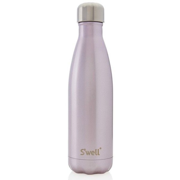 S'well 'Pink Champagne' Stainless Steel Water Bottle ($25) ❤ liked on Polyvore featuring home, kitchen & dining, fillers, pink champagne, stainless cup holder, stainless steel cup holder and car cup holder