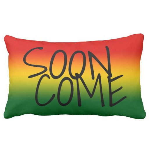 SOON COME - Jamaican Style Pillow  #CaribLoveDesigns #Caribbean #SoonCome #Jamaica #Pillow