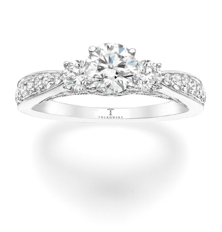 tolkowsky diamond engagement ring in 14k white gold available in the us through kay jewelers - Wedding Rings At Kay Jewelers