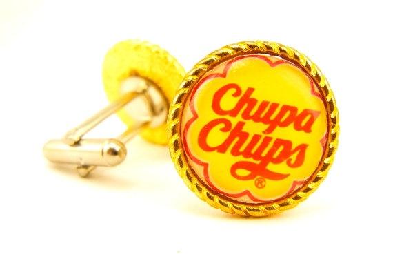 Handmade chupa chups cufflinks gift for men by saard on etsy chupa chups pinterest - Housse de couette chupa chups ...