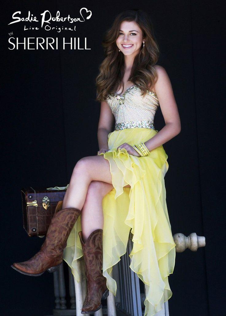 sadie robertson prom dresses yellow