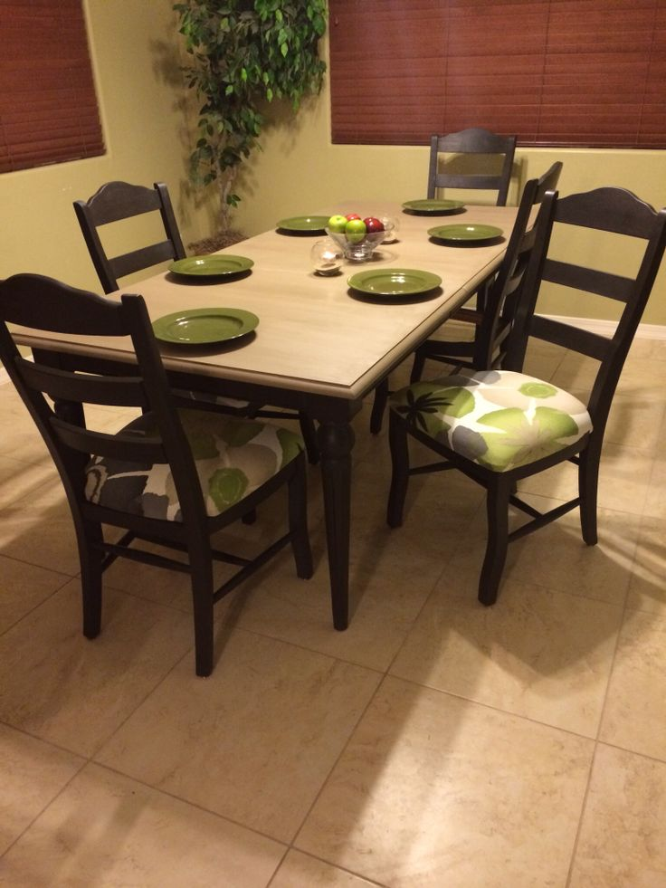 dining table redo the project was easier than i imagined and i had fun with it can 39 t wait to. Black Bedroom Furniture Sets. Home Design Ideas