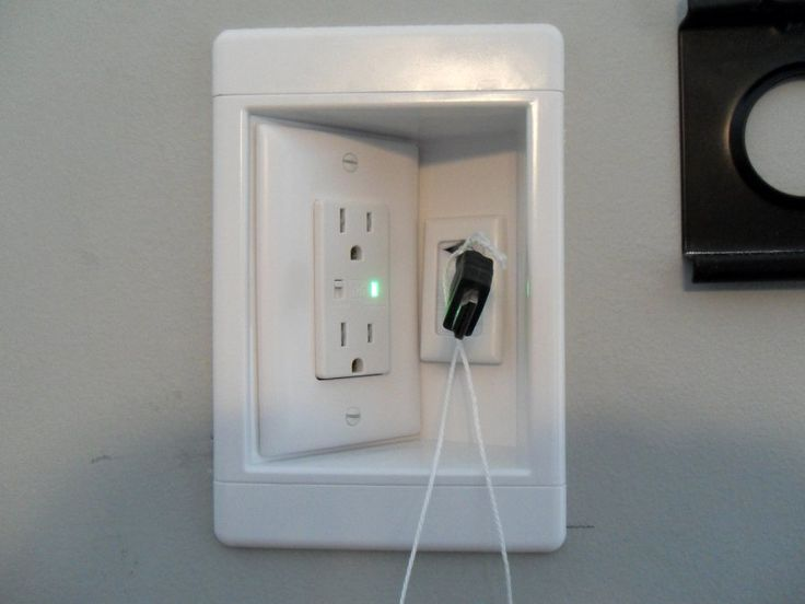 When building a house, use recessed outlets so the furniture can fit flat against the wall.