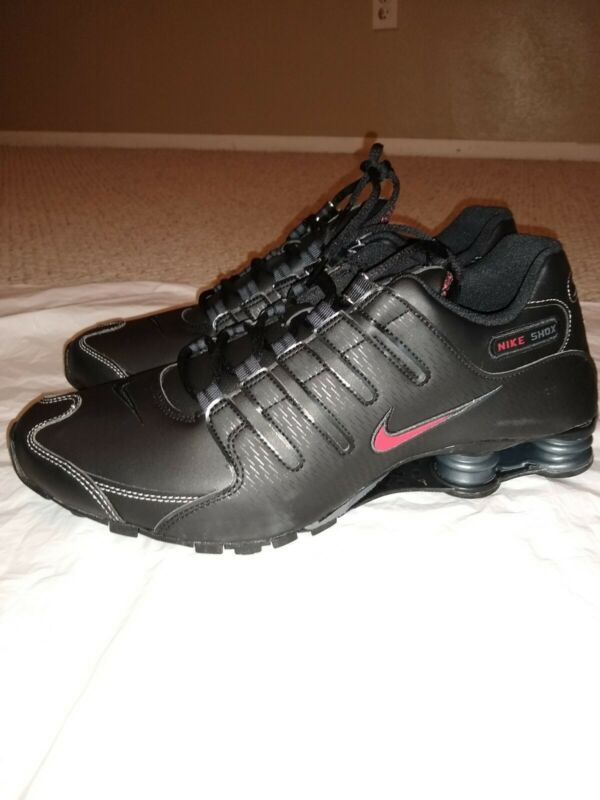 Nike Shox NZ Black Red Leather Men's Size 13 Running Shoes ...