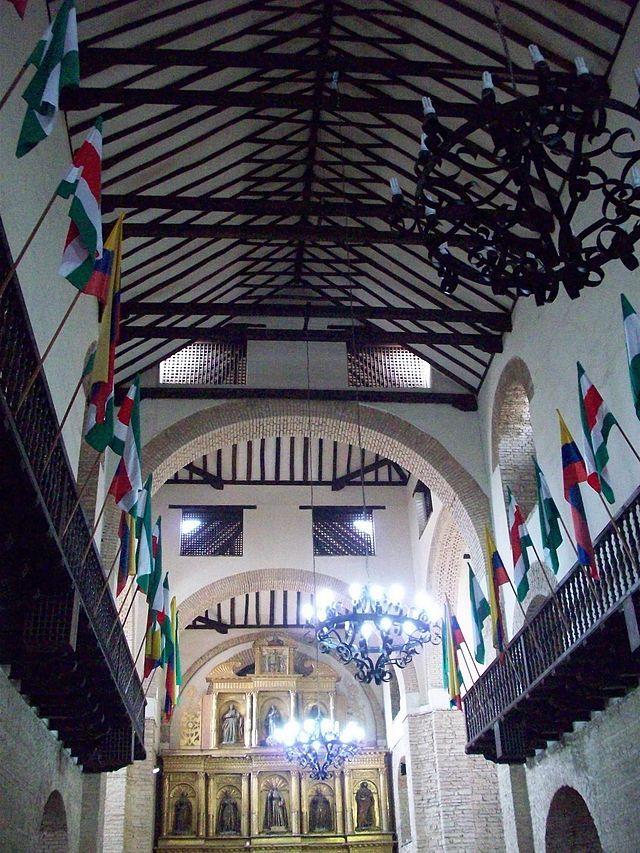 Colombia - Interior de la Iglesia de San Ignacio, Tunja, Boyaca.