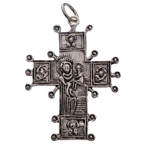 Silver Christian cross by Unukornulo on Etsy