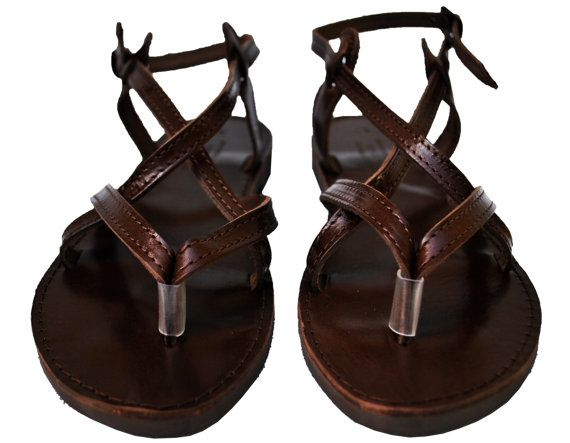 Dark Brown Double Leather Sandals.  These are ok.  I wish the sole was better made.