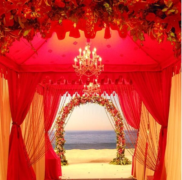 Beach wedding tent. Gorg.