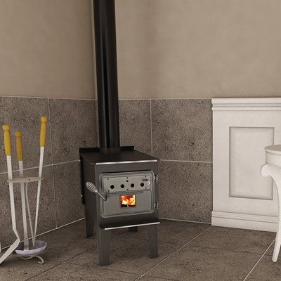 Vogelzang High-Efficiency Wood Stove with Blower — 68,000 BTU, Model# VG150