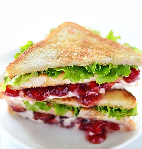 Cranberry Cream Cheese Turkey Sandwich Recipe Let S Share Recipes Sandwiches Turkey