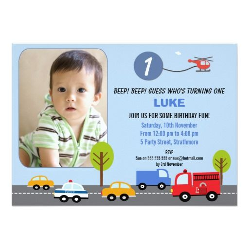 248 best boys birthday party invitations images on pinterest boys 1st birthday transport invitation stopboris Image collections