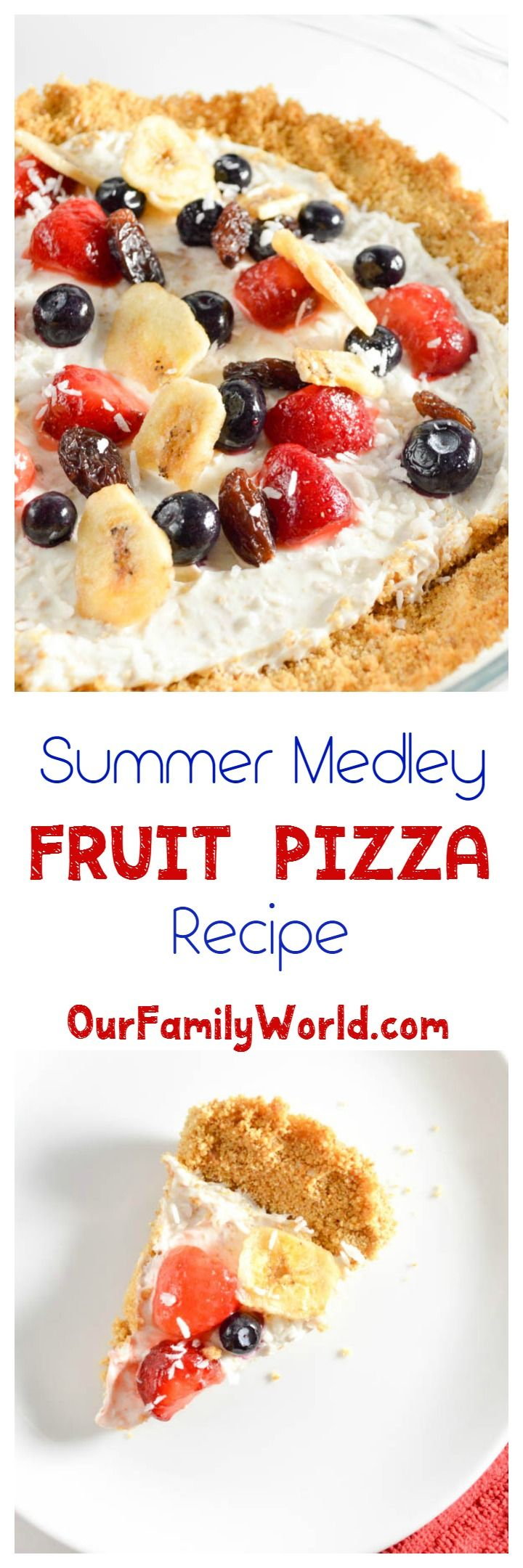 Looking for a healthy dessert idea? How about an easy fruit pizza? They're so much fun to make and really take advantage of all the delicious summer fruits!