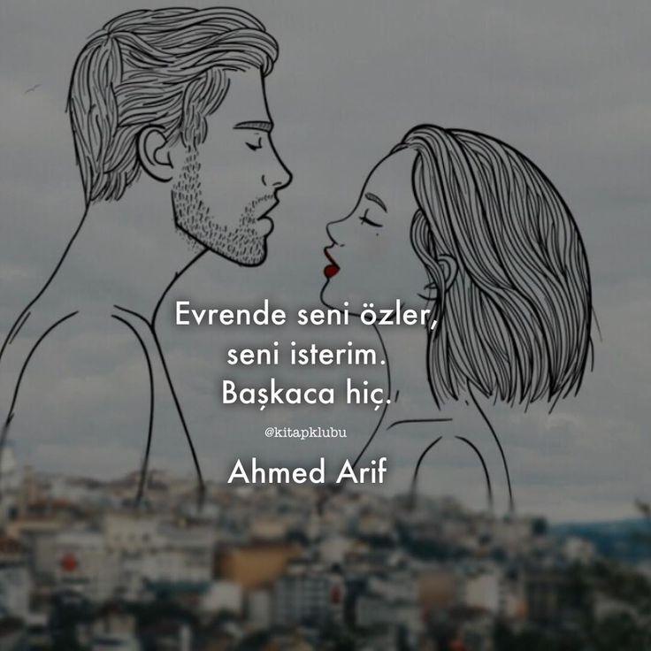 Evrende seni özler, seni isterim.  Başkaca hiç.   - Ahmed Arif  (Kaynak: Instagram - kitapklubu)  #sözler #anlamlısözler #güzelsözler #manalısözler #özlüsözler #alıntı #alıntılar #alıntıdır #alıntısözler #şiir #edebiyat