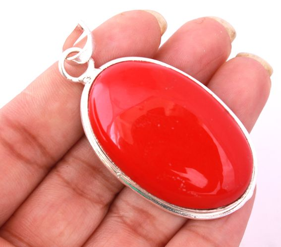 Beautiful Necklace Pendant With Huge Simulated Coral. Starting at $undefined