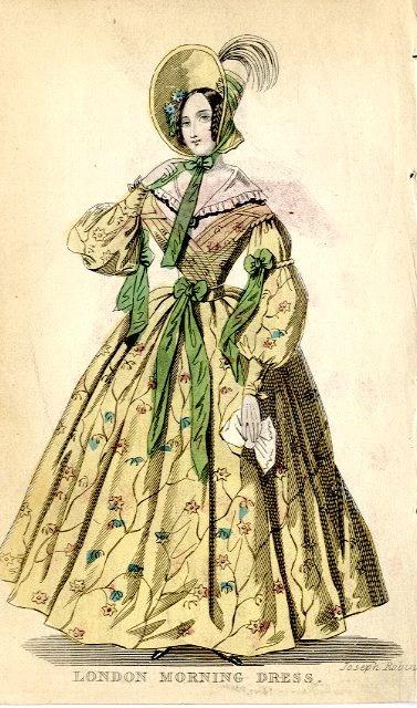 Morning dress, English, 1836