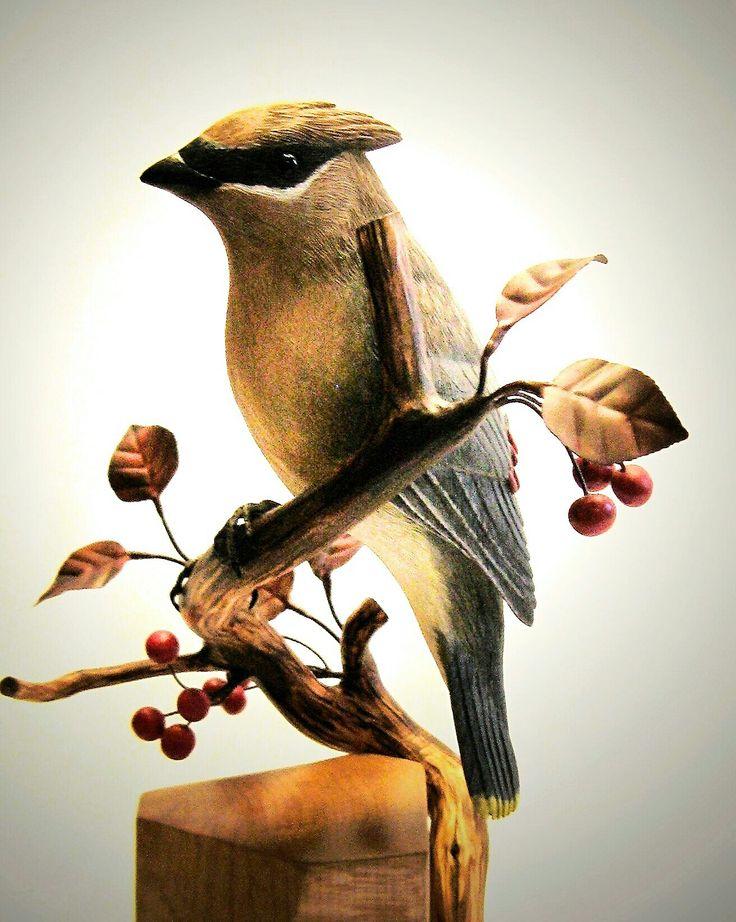 Best wood carving birds images on pinterest carved