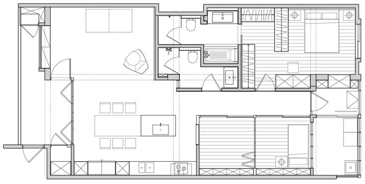 Backlight Apartment / 2BOOKS design
