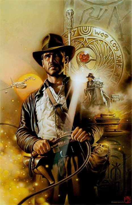 Indiana Jones art by Tsuneo Sanda