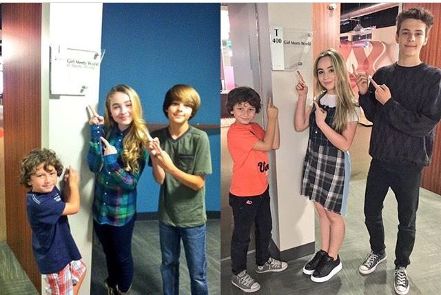 They grew a lot<<<< look at how much Corey grew (Farkle)