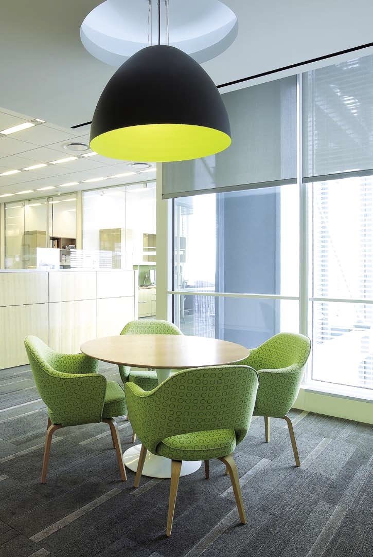 Office breakout space but would work in dining room Solar Roller Shades
