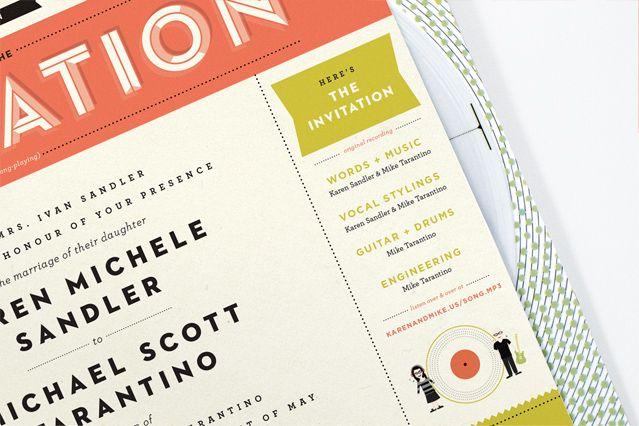 amazing! paper record wedding invite   kelli anderson
