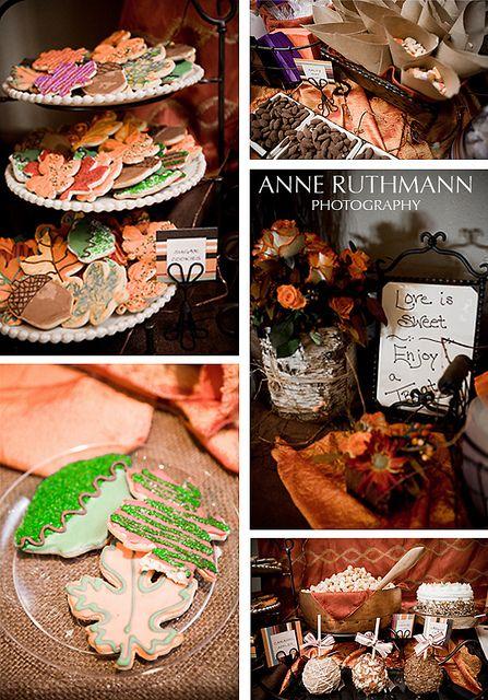 wesele w lesie ciastka listki
