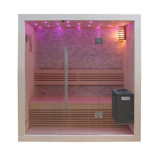 EO-SPA Sauna B1103C Pappelholz/120x105/3kW EOS BiO-Mini